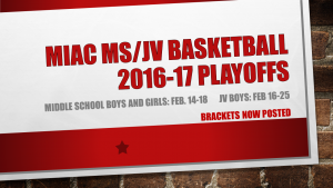 MIAC MS JV Playoffs Brackets Posted