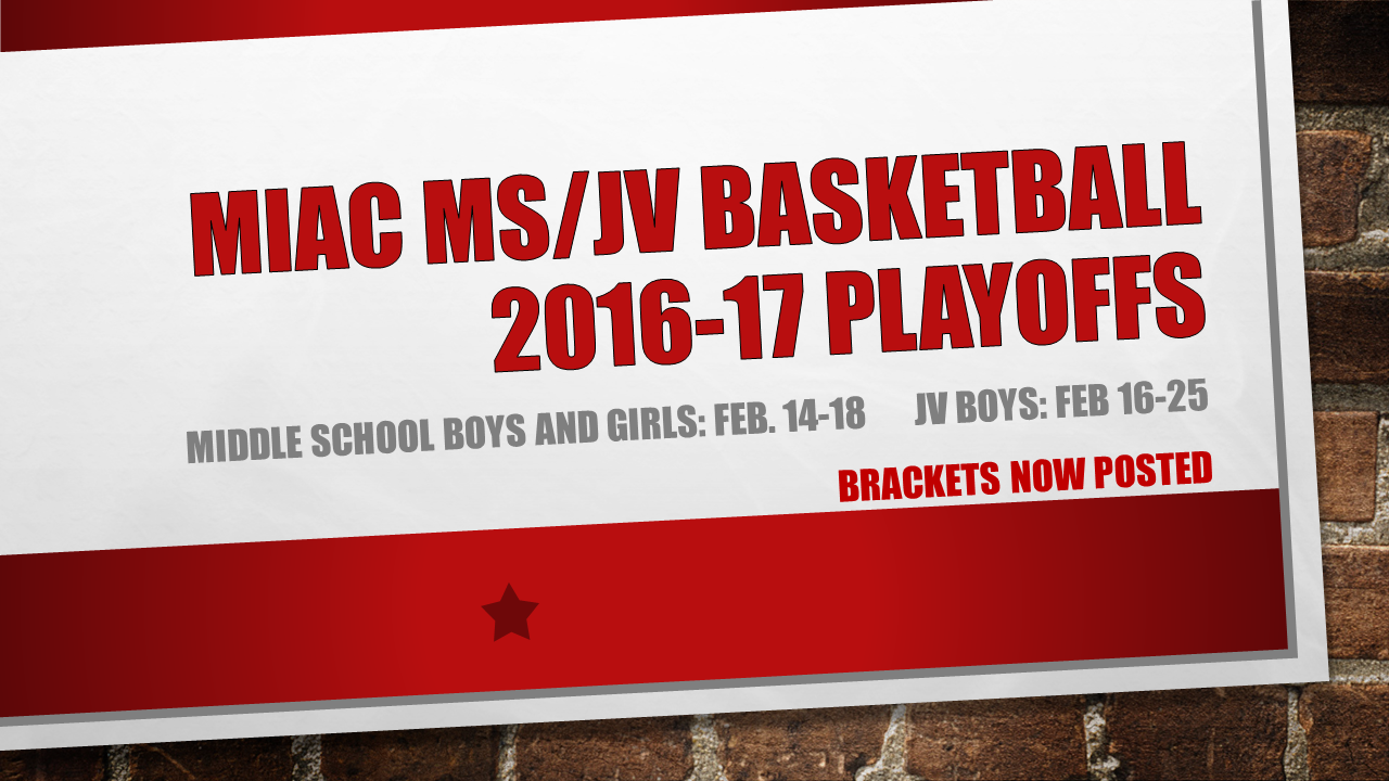 MIAC 2016-17 MS and JV Basketball Brackets Posted