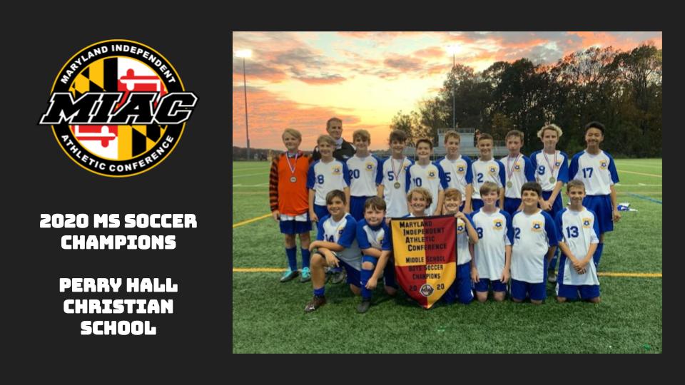 MIAC 2020 MS Soccer Champions